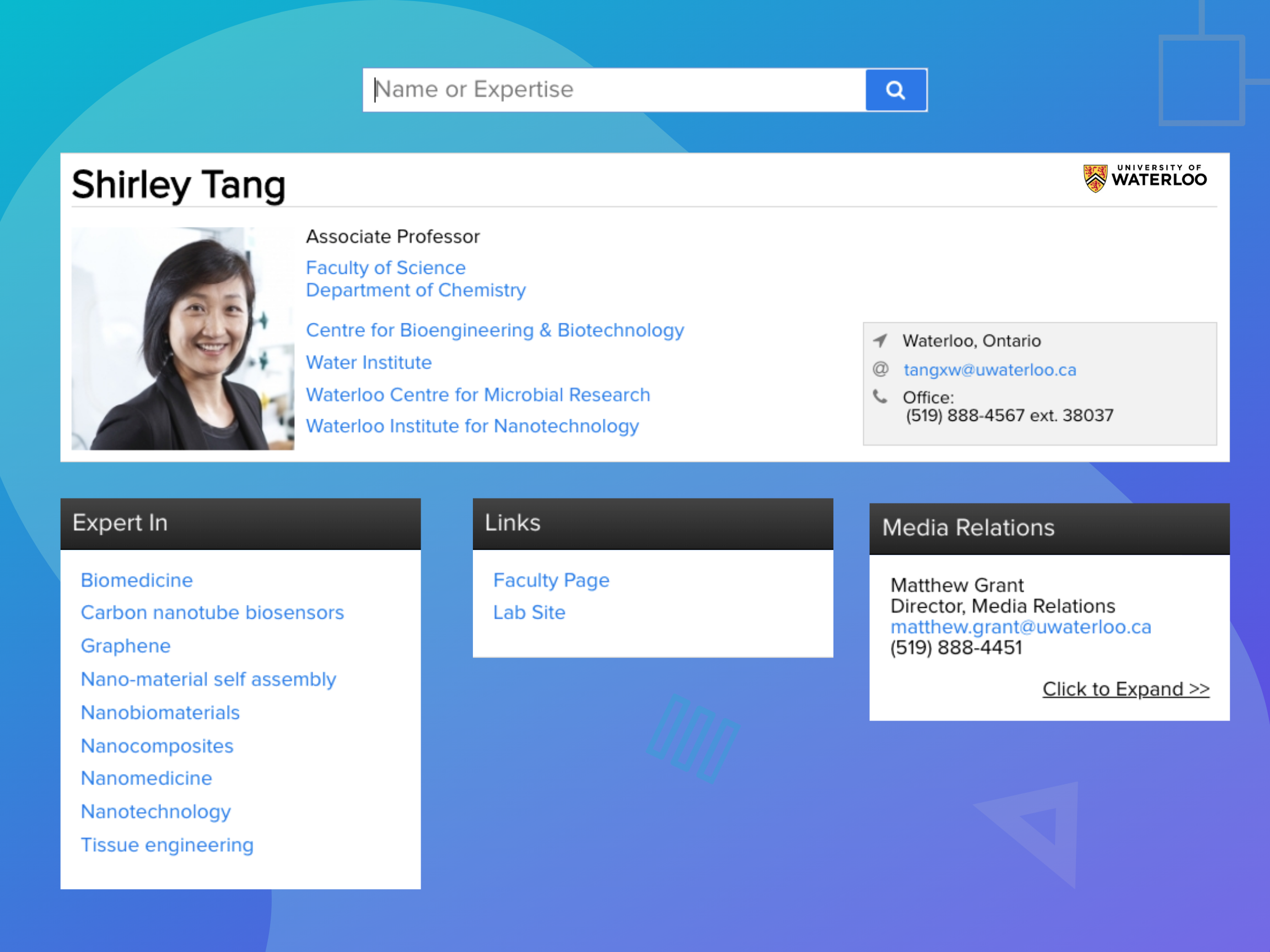 banner-directory software-profile page